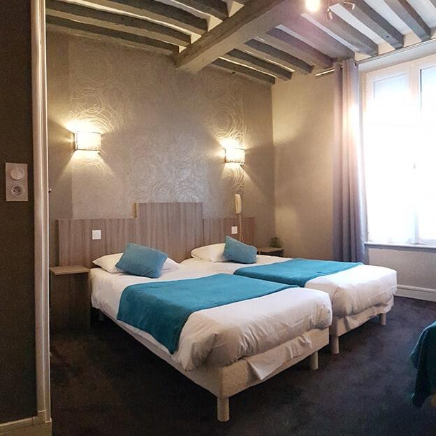 Chambre triple avec trois lits simple Hôtel Mogador