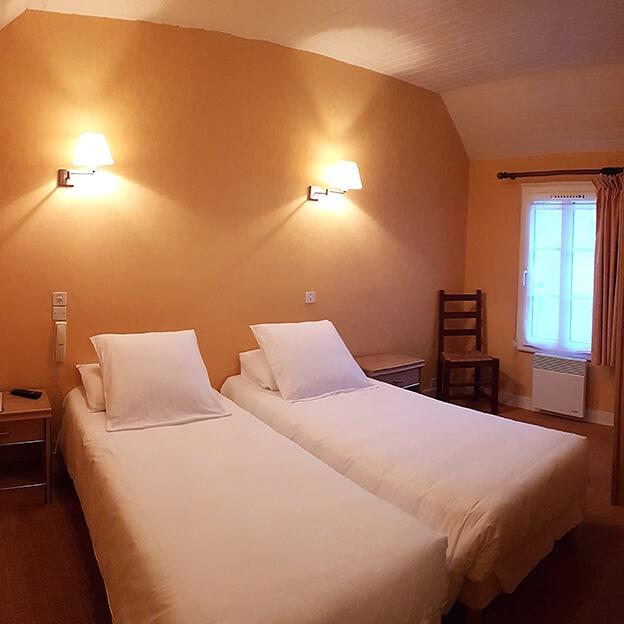 Chambre twin Hôtel Mogador